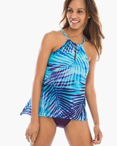 Chico's Palm Reader Peephole Tankini Top