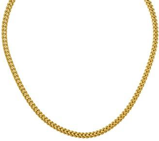 """14K Gold 22"""" Franco Link Necklace, 24.4g"""