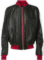 Haider Ackermann leather bomber jacket - men - Cotton/Leather/Rayon/Viscose - M