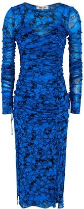Diane von Furstenberg Corinne floral-print mesh midi dress