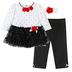 Little Me Girls' Dot Ruffle Tunic, Leggings & Headband Set - Baby