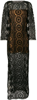 Alberta Ferretti Crochet Maxi Dress