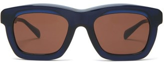 Kuboraum Square Acetate Sunglasses - Dark Brown