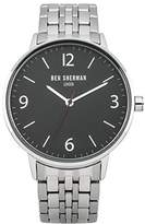 Ben Sherman Men's 'Portabello' Quartz Stainless Steel Casual Watch, Color:Silver-Toned (Model: WB023BMA)