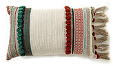 Noble Excellence Tasseled Ikat Pom Pom Pillow