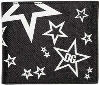 Dolce & Gabbana Black Millennial Star Bifold Wallet