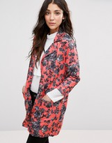 Girls On Film Floral Print Kimono Jacket