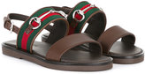 Gucci Kids - buckled sandals - kids - Cotton/Leather/metal/rubber - 28