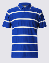 Blue Harbour Mercerised Cotton Striped Polo