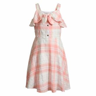 Emily West Kids & Baby Sleeveless A-Line Dress w/Ruffle Neckline-Casual Fashion for Girls