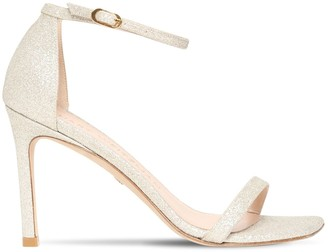 Stuart Weitzman 95mm Amelina Fine Glittered Sandals