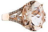 Effy Jewelry 14K Morganite & Diamond Ring