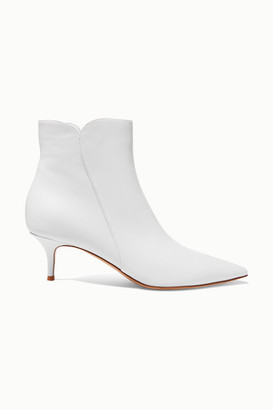 Gianvito Rossi Levy 55 Leather Ankle Boots - White