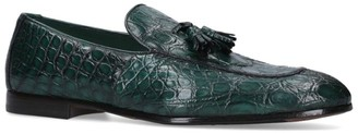 Doucal's Crocodile Leather Tassel Loafers