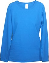 Gildan Women's Long Sleeve Basic Cotton Tee, XL