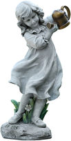 Asstd National Brand 22 Girl with Watering Can Outdoor Statue