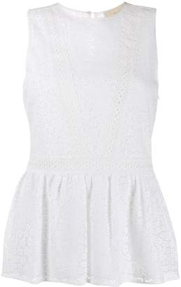 MICHAEL Michael Kors embroidered lace sleeveless top