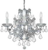 Swarovski House Of Hampton Milan 6 - Light Candle Style Classic / Traditional Chandelier House of Hampton Crystal Type Spectra, Finish: Gold