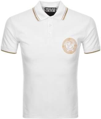 Versace Logo Polo T Shirt White