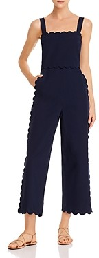 Rebecca Taylor Scalloped Cropped Jumpsuit