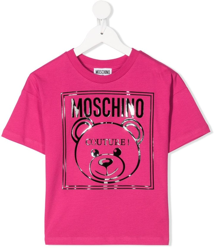 MOSCHINO BAMBINO teddy bear logo print T-shirt