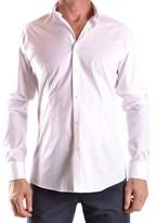 Daniele Alessandrini Men's White Cotton Shirt.