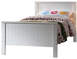 Simple Relax Bed, Twin, White Finish