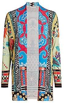 Etro Women's Mosaic Tile Embroidered Silk-Blend Cardigan