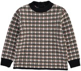 Marni Checked Wool Pullover with Button-Up Back