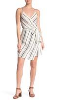 Blu Pepper Stripe Woven Wrap Dress
