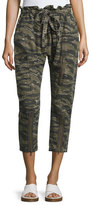 Current/Elliott The Aviation Zip Camo Pants, Green Pattern