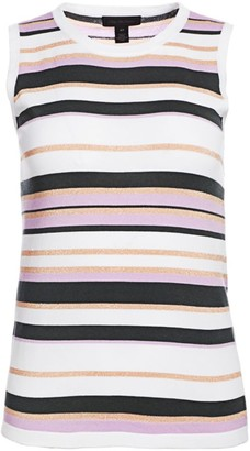 Saks Fifth Avenue Lennox Striped Sleeveless Shell Tee