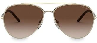 Prada Catwalk 57MM Aviator Sunglasses