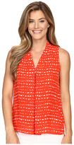 Vince Camuto Sleeveless Ancient Etchings Invert Pleat Blouse