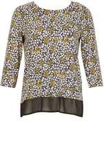 Izabel London *Izabel London Multicoloured 3/4 Sleeve Blouse