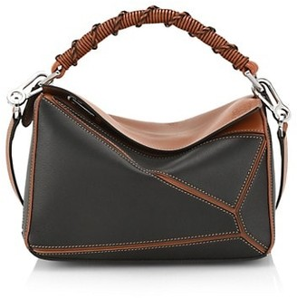 Loewe Small Puzzle Colorblock Leather Bag