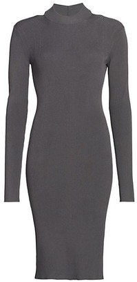 Helmut Lang Ring Cutout Knit Dress