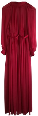 Maison Rabih Kayrouz Red Silk Dresses