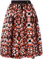 Class Roberto Cavalli patterned pleated skirt - women - Polyester/Spandex/Elastane/Acetate/Viscose - 38
