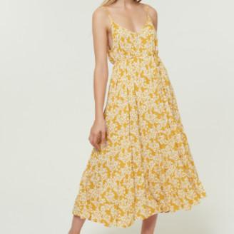 Jovonna London Yellow Tullie Dress with Spaghetti Straps - Large