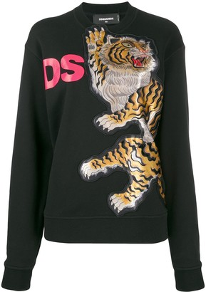 DSQUARED2 Tiger Motif Knitted Jumper