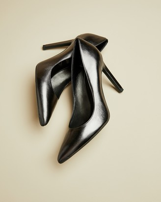 Ted Baker Metallic Leather High Heel Courts