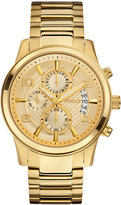 GUESS Men's Chronograph Gold-Tone Stainless Steel Bracelet Watch 44mm U0075G5