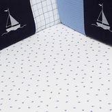 Nautica William Sailboat Print Fitted Crib Sheet