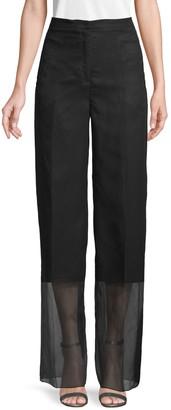 Akris Wide-Leg Silk Pants
