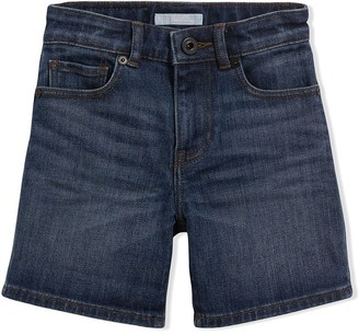 BURBERRY KIDS Relaxed Fit Stretch Denim Shorts