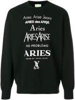Aries perfume logo sweatshirt