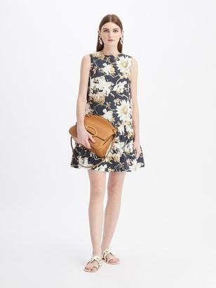 Oscar de la Renta Daisy Print Mini Day Dress