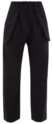 Wales Bonner Mambo High-rise Cotton-blend Twill Trousers - Womens - Black