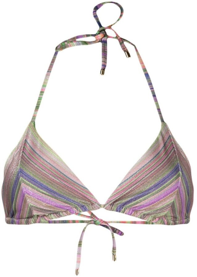 PQ Swim Geometric-Print Bikini Top